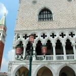 Palazzo Ducale sulla laguna di Venezia