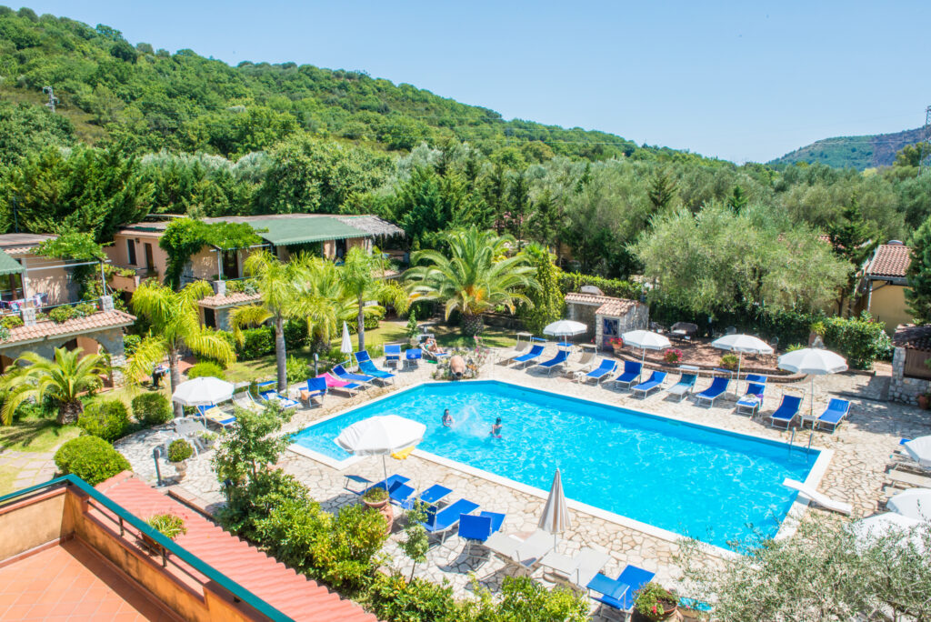 Vista piscina privata